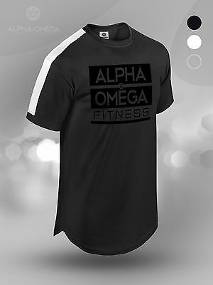 Romantisch Aao Essential Blend Longline Tee - Black Fitness Workout Gym Mens S M L Xl