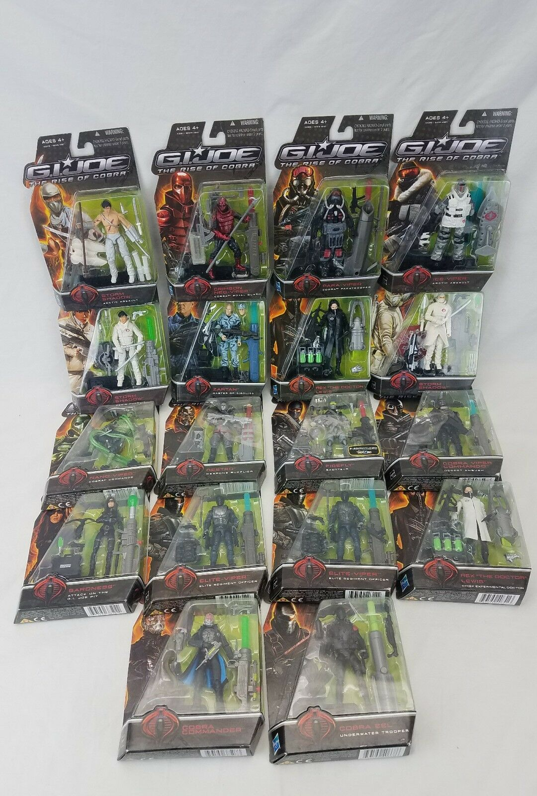 G.I. JOE Rise Of Cobra Hasbro Action Figures Collection Lot of 18 Movie