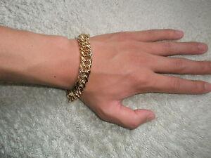 Unique-SG1502-10-034-18K-Gold-Plated-Men-039-s-Chunky-Chain-Bracelet-Christmas-Present
