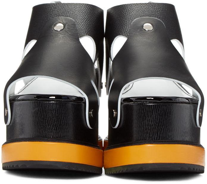 punto vendita Proenza Schouler Platform nero Sandali Sandali Sandali di Cuoio Taglie 40 It 10  prezzo basso