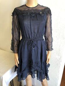 Robe à Dentelles Femme Salsa réf 118776 Taille S Couleur Bleu Neuf!!!!