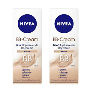 2-X-Nivea-BB-Cream-6-in-1-Medium-50ml-Blemish-Balm-only-12-99