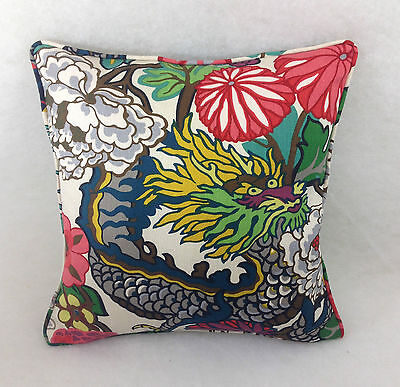 Schumacher-Fabric-Cushion-Covers-In-Chiang-Mai Dragon Beautiful Heavy Linen