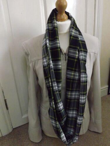 Soft Warm Gordon Dress Tartan Infinity Scarf Snood Cowl Loop Plaid Mother/'s Day