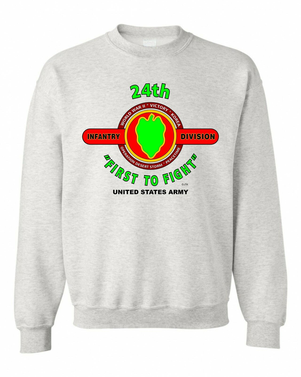 34TH INFANTRY DIVISION   rosso rosso  BULL   BATTLE & CAMPAIGN SWEATSHIRT 0ac99a
