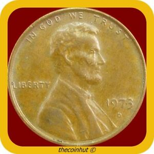 1973-D-Lincoln-Memorial-Penny-Cent-US-Coins-Coinhut2971