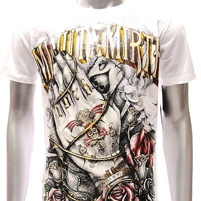 m102w Minute Mirth T-shirt Tattoo Rock Skull Rose Rider Metal Trendy Casual Tee