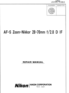 Nikon-AF-S-Nikkor-28-70mm-f2-8-D-IF-Service-Repair-Manual-Parts-List