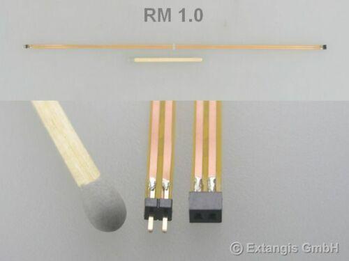 Micro Steckerset 2polig RM 1,0 flex cable Flex-Flachbandkabel connector set