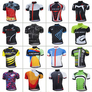 New-Zerobike-Men-039-s-Cycling-Jersey-Bicycle-Sportswear-Short-Sleeve-Bike-Shirt-Top
