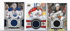 Upper-Deck-UD-Game-Jersey-4-Card-Lot-Rakell-Talbot-Huberdeau