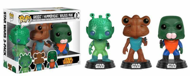 Funko Pop Star Wars-Greedo, Hammerhead, Walrus MAN  11487