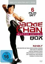 6 Filme JACKIE CHAN - KUNG FU MASTER Todesfaust SHANGHAI Mission Force DVD Box