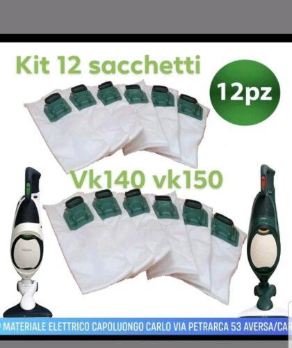 12 Sacchetti Folletto VK140 VK150 Compatibili Adattabili Con Porta Profumino
