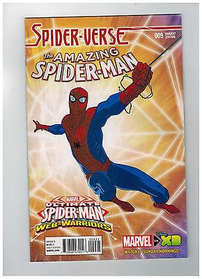 AMAZING SPIDER-MAN #9  Animation Variant Cover 1:25         / 2015 Marvel Comics