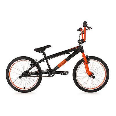 "20"" BMX BIKE FREESTYLE FAHRRAD RAD SURGE BLACK/ORANGE KS CYCLING 534B"