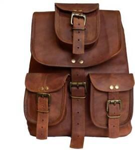 33-cm-genuine-men-039-s-leather-backpack-bag-satchel-briefcase-laptop-brown-vintage