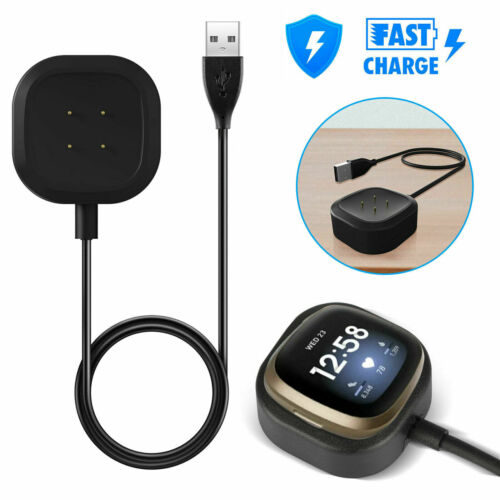 Charger Dock Cradle For For Fitbit Versa3//Sense USB Charging Cable Power