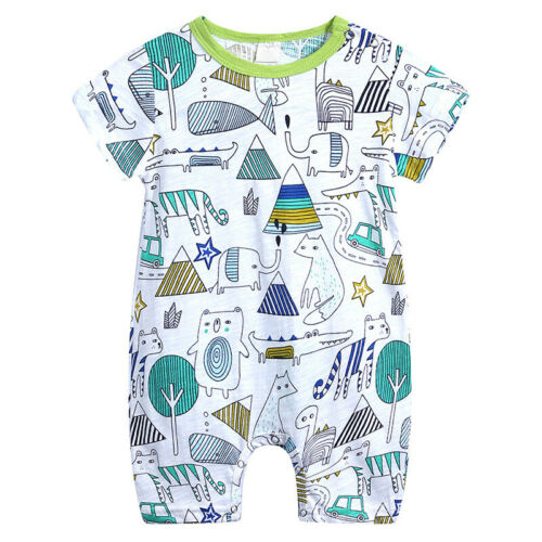 Cotton Baby Romper Jumpsuit Newborn Boys Clothes Short Sleeve 0-18 Months