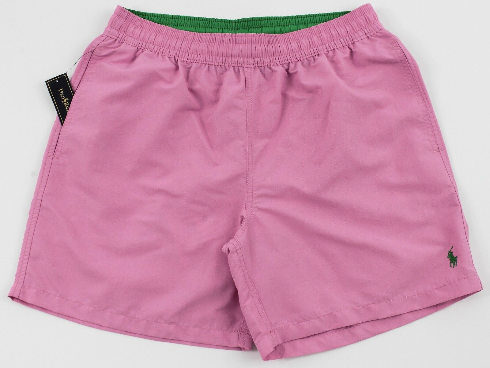 Men's POLO RALPH LAUREN Pink Swimsuit Trunks Large L NWT NEW 4103156 Nice