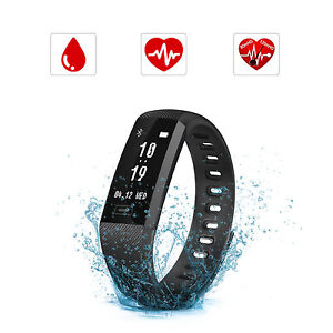 Fitness-Tracker-Smart-Sport-Orologio-frequenza-cardiaca-Pressione-sanguigna-nero