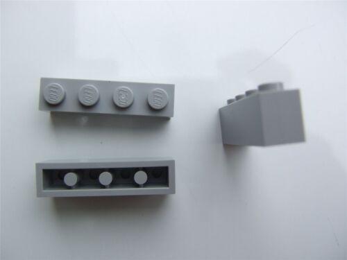 – 4211394 3 X LEGO GRIGIO RETTANGOLARE mattoni parti e pezzi Taglia 1x4