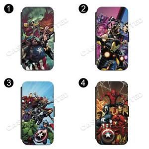 Marvel-Characters-FLIP-WALLET-Phone-Case-Cover-For-All-iPhone-amp-Samsung