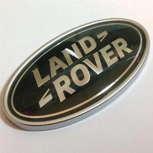 LAND-ROVER-BADGE-EMBLEM-ORIGINAL-GREEN-SILVER-OVAL-BOOT-BADGE-DISCOVERY-VOGUE