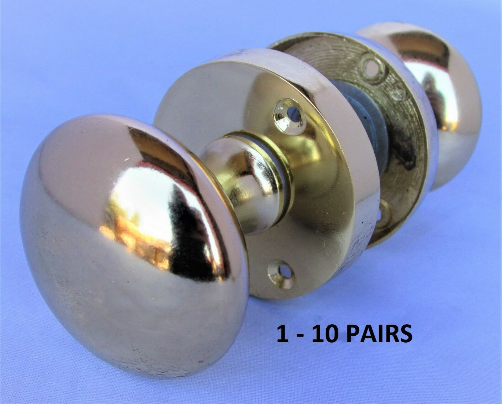Brass MODERN Round Internal Door Knobs SETS Mortice Interior Door Handles D5