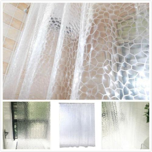 180 x 200 cm,3D TRANSPARENT MOSAIK DHL 12 Haken Duschvorhang aus PEVA incl