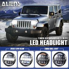 "2x 7"" 105W Cree LED Osram Headlight Hi/Lo Beam DRL for 97-16 Jeep Wrangler JK TJ"