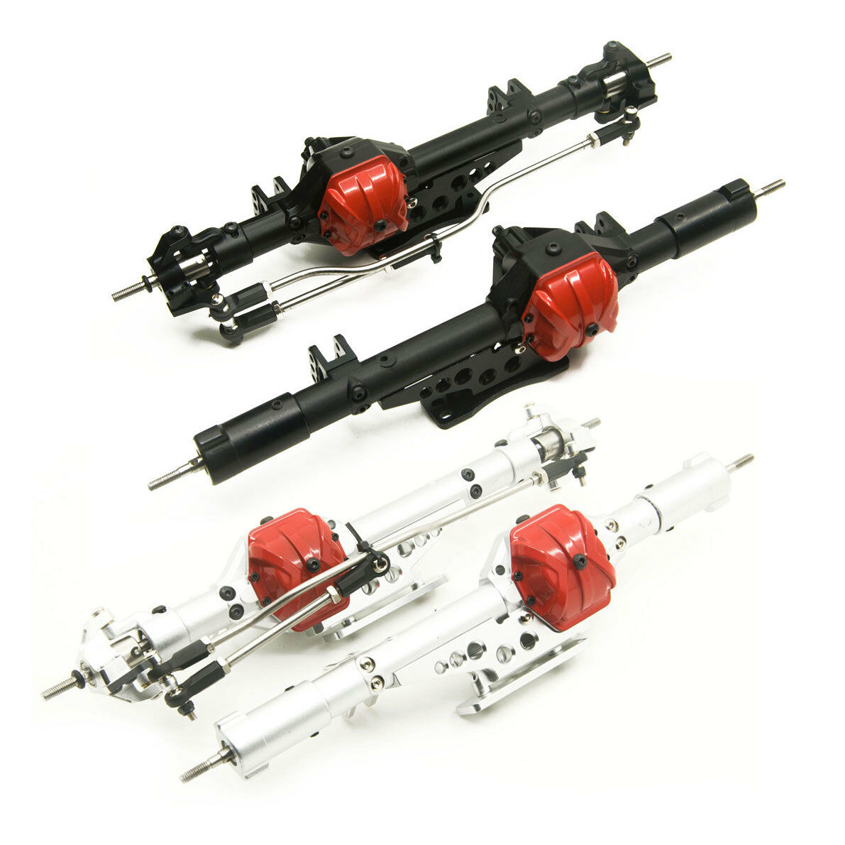 Aluminum Alloy Front & Rear Axles Set for 1 10 Axial Wraith 90018 RC Crawler