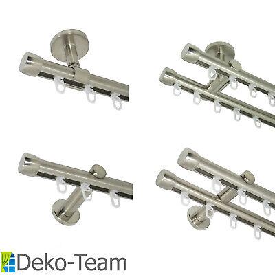 120 cm Deko-Team Innenlauf Gardinenstange 20 mm einl/äufig mit Endkappe Wandbefestigung