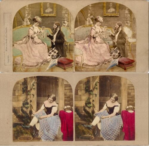 18 Stereoviews Genre 1860 1880, hand tinted, Lot 10