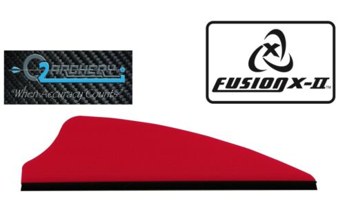 """2.1/"""" Fusion-II Vanes Pkg12 ******When Accuracy Counts*** Fire Red"""