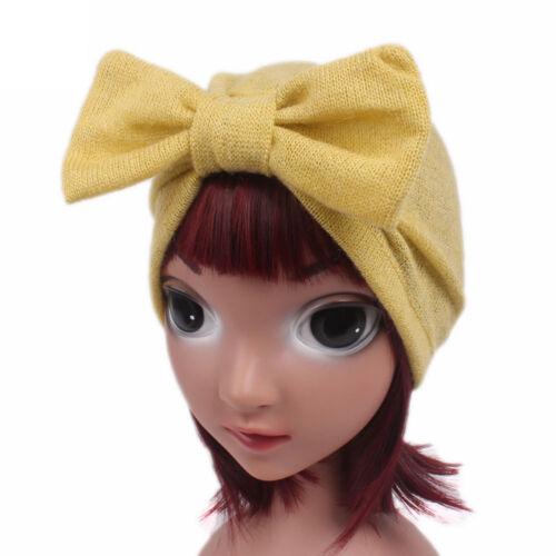 Children Girls Fashion Cute Boho Wool Blend Hat Beanie Scarf Turban Head Wrap