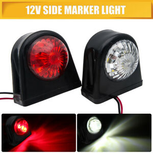 2X-12V-Round-LED-Button-Rear-Side-Marker-Light-Lamp-Fit-Car-Truck-Lorry-Trailer