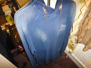 M Designer Men's Hoodie Blue Denim Original Talla Firetrap Rare wFR0z