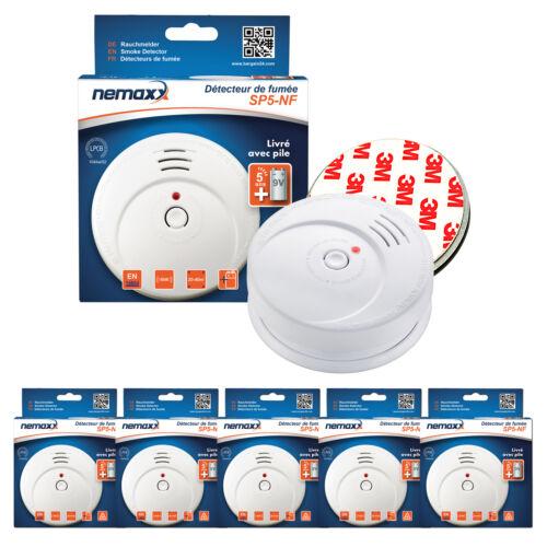 Magnethalterung 5x Nemaxx Rauchmelder SP5 NF-Zertifikat 85dB Rauchwarnmelder