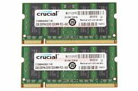 Crucial 4GB 2X 2GB PC2-6400S DDR2 800Mhz 800 200pin SO-DIMM RAM Laptop Memory