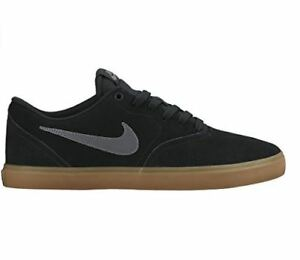 Men's Nike SB Check Solar Skate Shoe Black/Anthracite-Gum Dark Brown 843895 003
