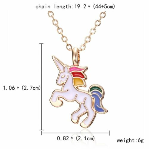 Fashion Woman Cute Animal Horse Oil Pendant Necklace Chain Party Wedding Gift