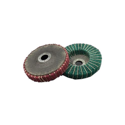 4/'/' 100mm Scotchbrite Nylon Fiber Flap Disc Polishing Abrasive Buffing Wheel Pad