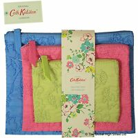 Cath Kidston - Quilted Trio Zip Purse Set (multi) 100% Authentic