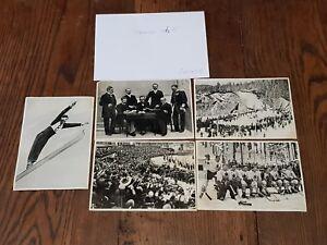 Jeu-Olympique-1936-Lot-5-grande-images-collection-des-jeux-de-Sammelwerk-Nr-13