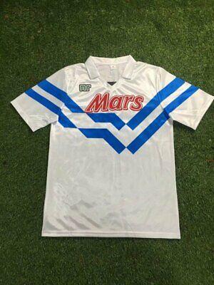NAPOLI AWAY RETRO SHIRT 1988-89, MARADONA, CARECA, Size S M L XL 2XL | eBay