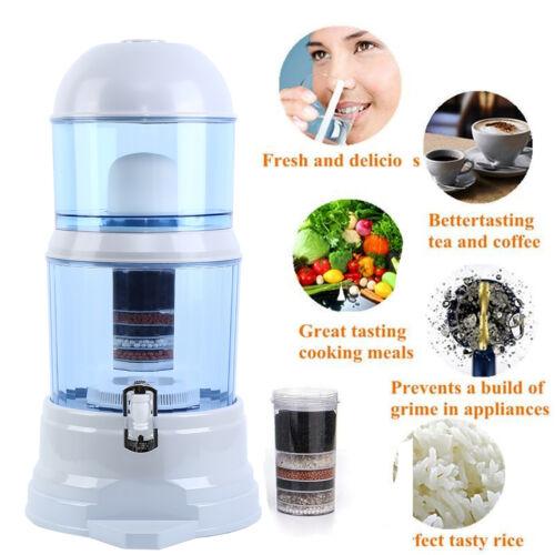 16L Wasserfilter Distiller Luftreiniger Carbon Mineral Kohle Dispenser Filter DE