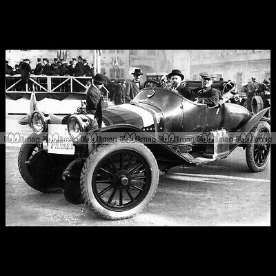 #pha.030928 Photo RUSSO-BALT TYPE C ANDRE NAGEL RALLYE MONTE CARLO 1912 Car Auto