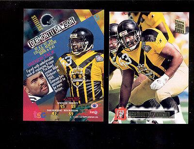 newest ffca0 d4fe7 1994 SC Stadium Club DERMONTTI DAWSON Pittsburgh Steelers Throwbacks Card    eBay