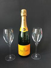 Veuve Clicquot Brut Champagner Flasche 0,75l 12% Vol + 2 Veuve Gläser